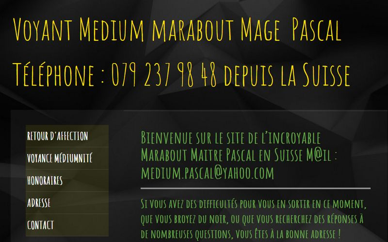 Mage Pascal grand marabout medium en Suisse
